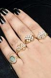 Diamond rings jewellery Royalty Free Stock Image