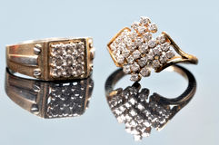Diamond rings jewellery Royalty Free Stock Image