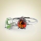 Diamond Rings representación 3d Fotografía de archivo