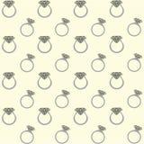 Diamond rings seamless pattern. For website or print vector illustration