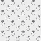 Diamond rings seamless pattern Royalty Free Stock Photo