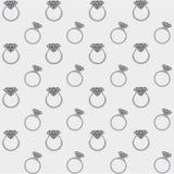 Diamond rings seamless pattern Royalty Free Stock Photo