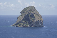 Le Diamant in Martinique. The Diamond Rock in Martinique Royalty Free Stock Images