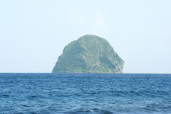 Diamond  rock in Martinique. Le diamant in Martinique island is a famous place Stock Images