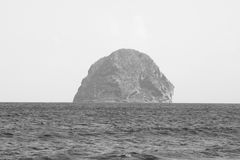 Diamond  rock in Martinique. Stock Photos