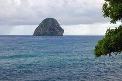 Diamond Rock Rocher, Martinique Island Stock Image