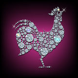 Diamond rooster Stock Photography