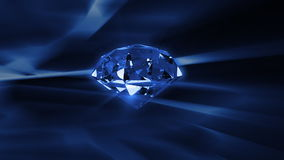 Diamond rotating against abstract background,seamless loop, stock footage stock video