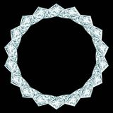 Diamond round frame Royalty Free Stock Image