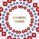 Diamond round frame Stock Image