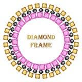 Diamond round frame Stock Images