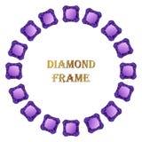 Diamond round frame Stock Photography