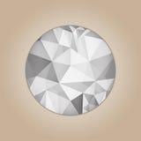 Diamond round shape Stock Photography