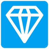 Diamond Rounded Square Raster Icon royalty free illustration
