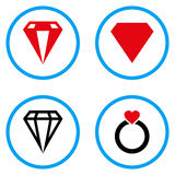 Diamond Rounded Vector Icons Fotos de archivo