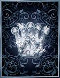 Diamond royal crown VIP card Royalty Free Stock Images