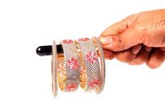 Diamond ruby bracelets royalty free stock photo