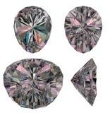 Diamond ruby cut isolated Stock Image