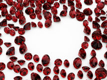 Diamond ruby heart Royalty Free Stock Photography