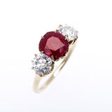 Diamond and Ruby Ring Royalty Free Stock Photography