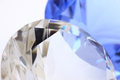 Diamond and sapphire Royalty Free Stock Photography