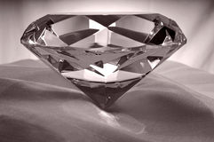 Diamond on Satin. Diamond or Amethyst on Satin Royalty Free Stock Image