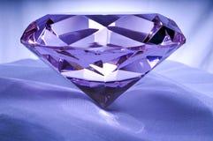 Diamond on Satin. Diamond or Amethyst on Satin Royalty Free Stock Images