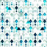Diamond seamless pattern. Grunge effect Royalty Free Stock Photo