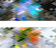 Diamond seamless pattern, vector abstract banners Royalty Free Stock Images
