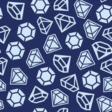 Diamond Seamless Pattern Stock Images