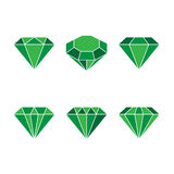 Diamond set icon. Vector Illustration. Shiny crystal sign. Royalty Free Stock Images