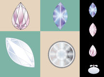 Diamond set Royalty Free Stock Photos