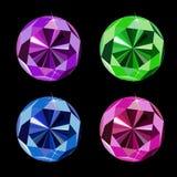 Diamond Set Vetora Illustration luxuoso abstrato Foto de Stock