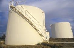 Diamond Shamrock Oil Tanks a Turpin, APPROVAZIONE immagini stock