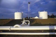 Diamond Shamrock Oil Tanks a Turpin, APPROVAZIONE fotografia stock