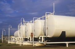 Diamond Shamrock Oil Tanks a Turpin, APPROVAZIONE fotografia stock libera da diritti