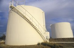 Diamond Shamrock Oil Tanks at Turpin, OK stock images