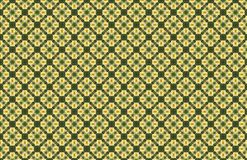 Diamond Shape Abstract Geometric Pattern en bambou vert jaune illustration libre de droits