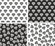 Diamond Shape Aligned et ensemble sans couture aléatoire de modèle Illustration de Vecteur