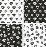 Diamond Shape Big & Small Aligned & Random Seamless Pattern Set Royalty Free Stock Photo