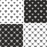 Diamond Shape Big & Small Seamless Pattern Set Royalty Free Stock Photography