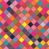 Diamond shape colorful drawing seamless pattern Royalty Free Stock Photos