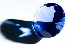 Diamond-shape crystal, shoadow, copy space royalty free stock photo