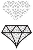 Diamond Shape graphic pattern stock illustration
