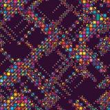 Diamond shape half seamless pattern Stock Photography