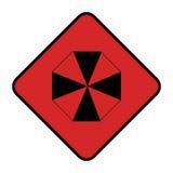 Diamond shape with hazard symbol Royalty Free Stock Images