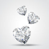 Diamond shape heart Royalty Free Stock Photography
