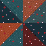 Diamond shape line seamless pattern Royalty Free Stock Image