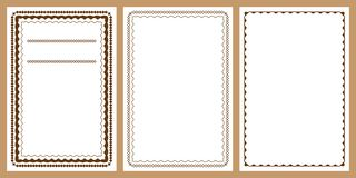 Diamond shape more diamond frame set. This illustration is design and drawing diamond shape more diamond frame in set on white color background royalty free illustration