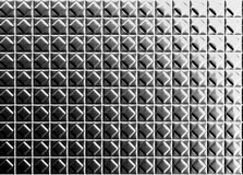 Diamond shape pattern aluminium tile background Royalty Free Stock Photography
